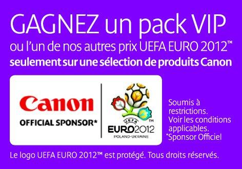 Gagnez avec CANON Euro 2012